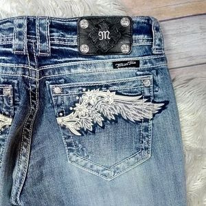 Buckle | Miss Me Boot Cut Floral Wing Jeans